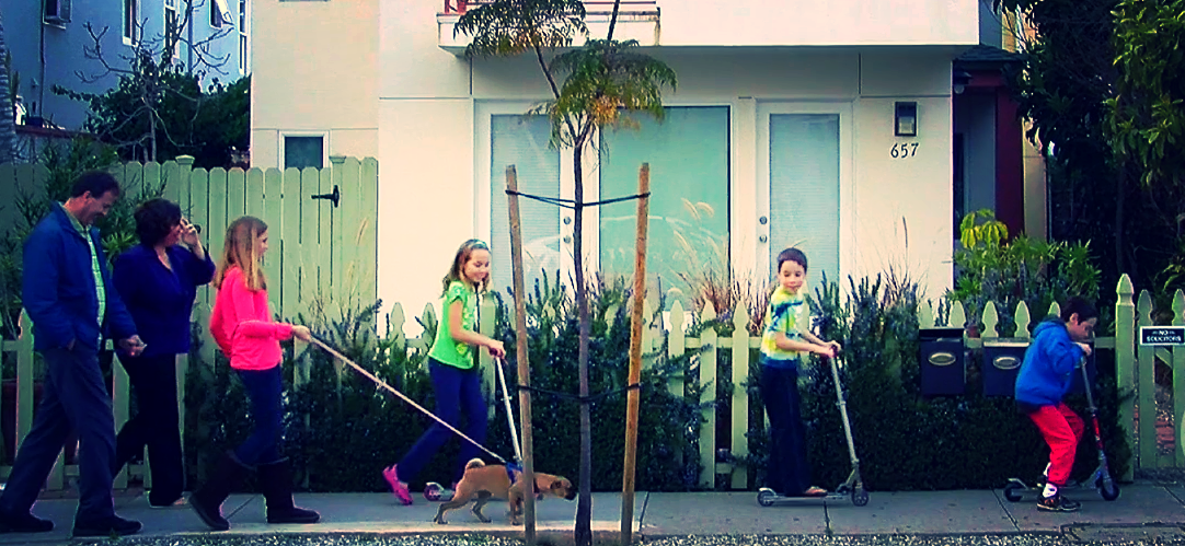 Alice and family hit the streets of Santa Monica.