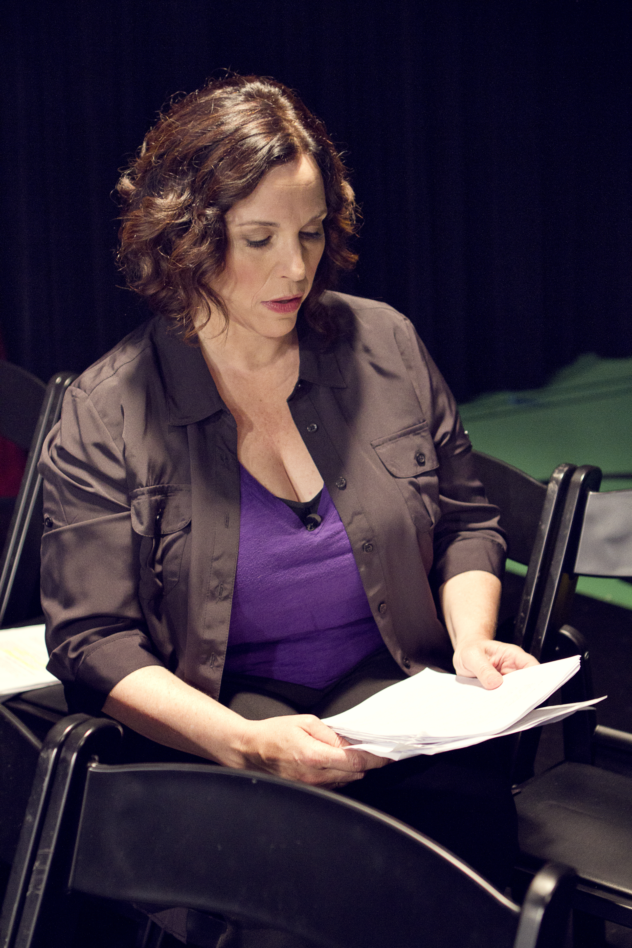 "Alice Manning prepares for her  Huffington Post  ""Breakover"" video shoot."