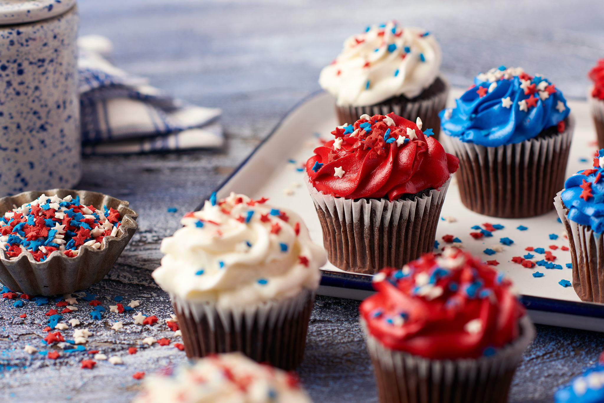 Fourth of July Cupcakes Food Photography for Publix Supermarkets Photography by Nick Pecori Tampa Commercial Advertising Photographer-1.jpg