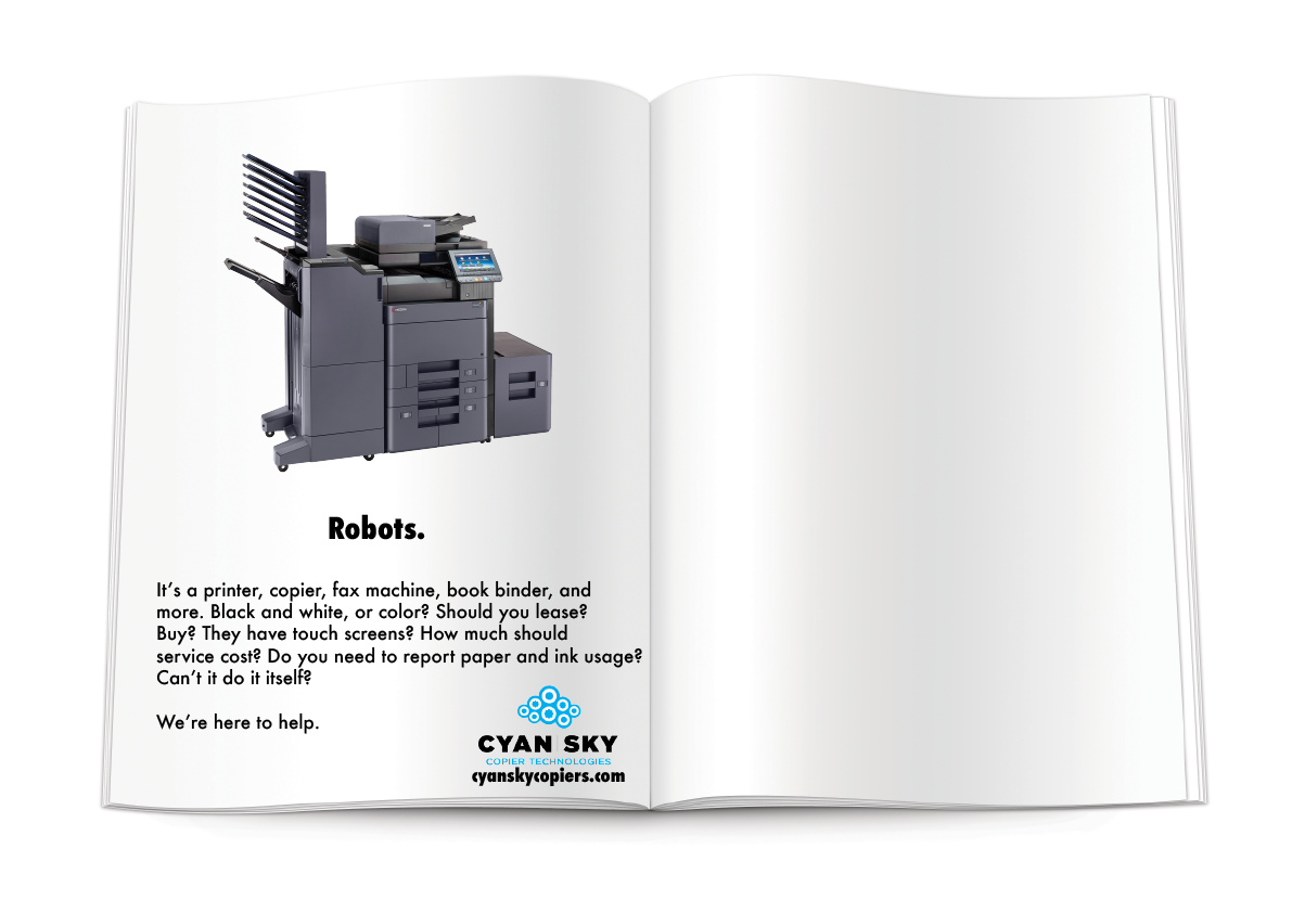 Cyan Sky, Magazine Ad