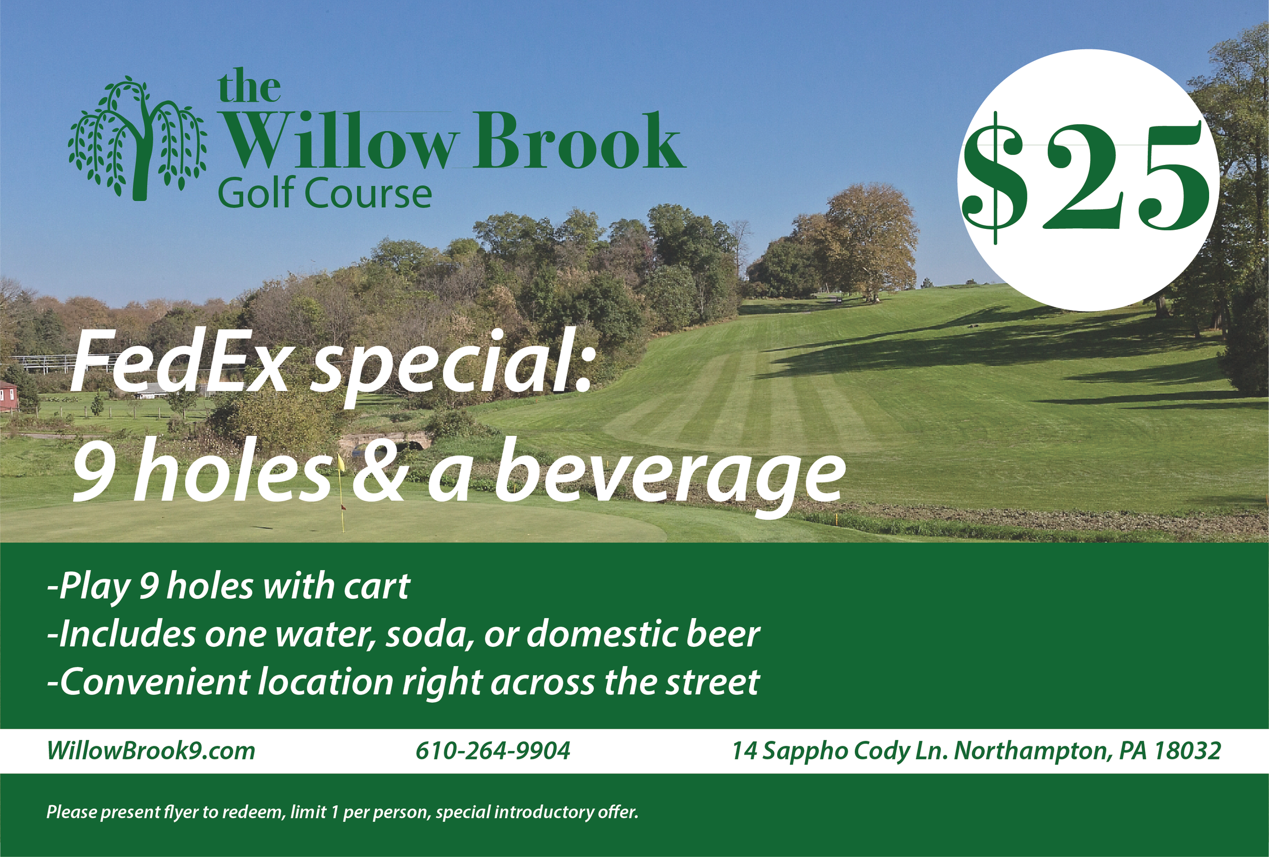 Willow Brook Golf Course, FedEx Flyer