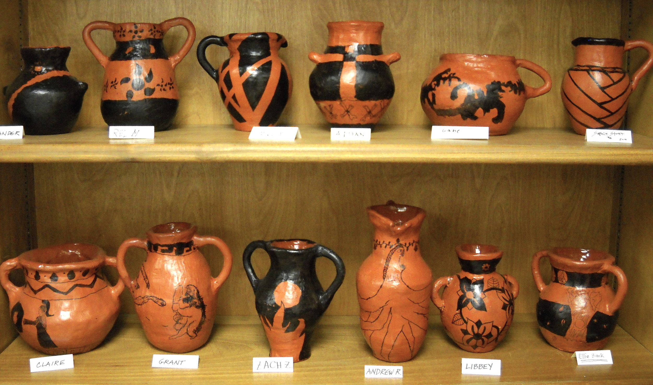 Greek Style Coil-Built Ceramic Vessels