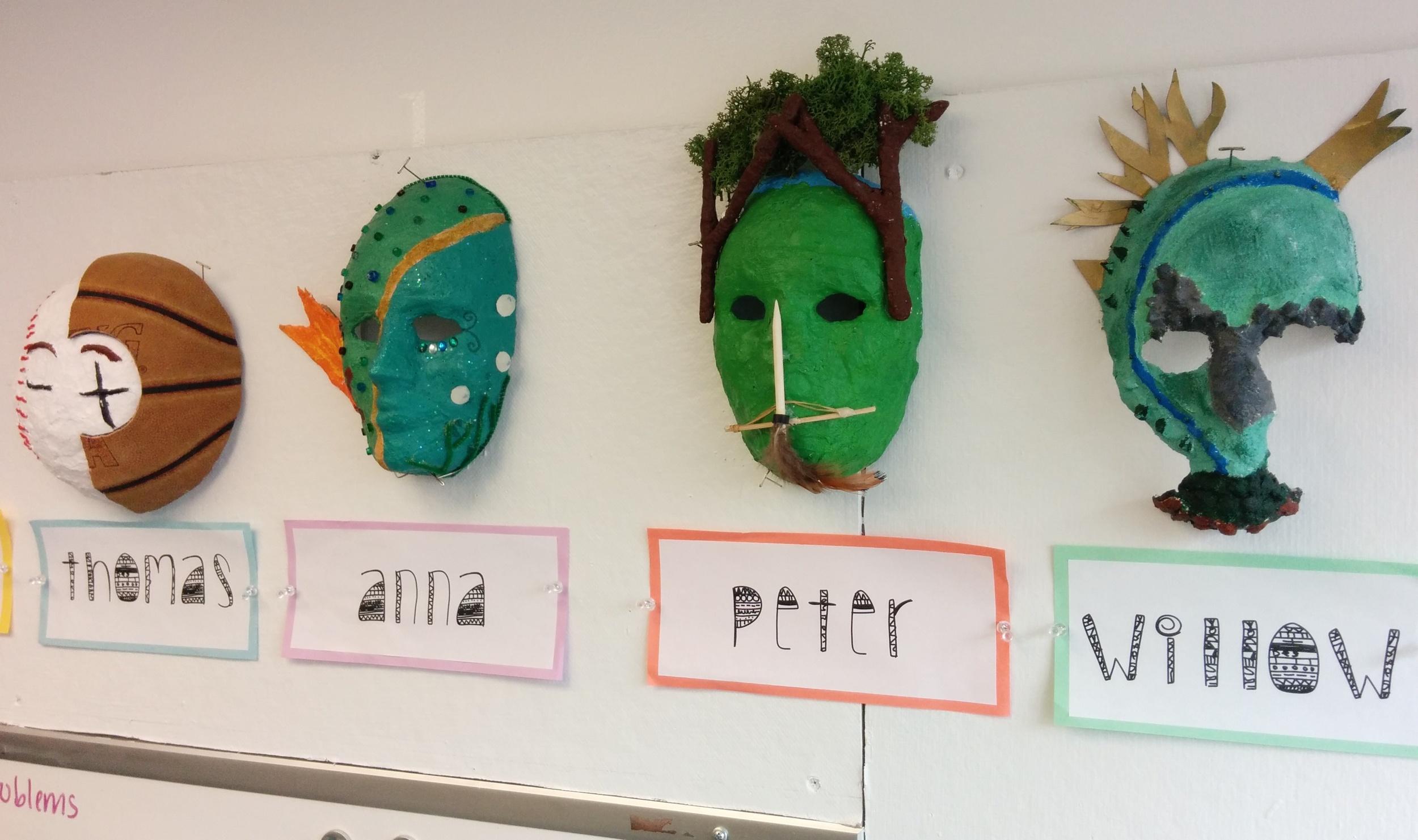 """Who Am I?"" Masks"