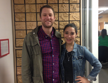 """Our social media """"experts"""" – Mike Fiebach '00 and Cecilia Gezlinger"""