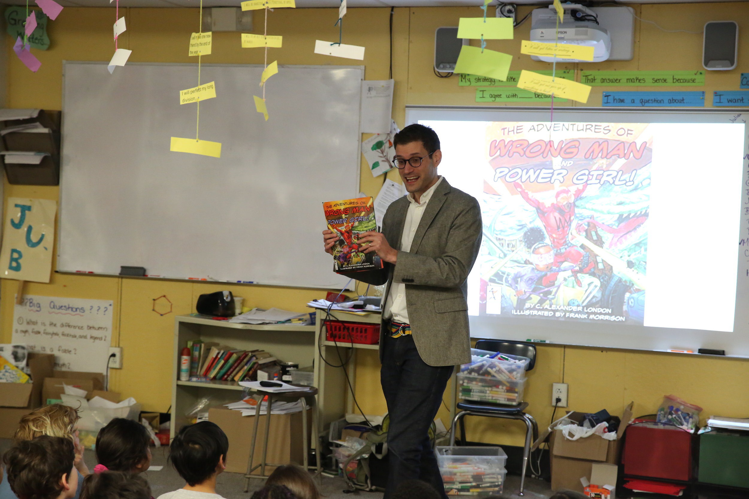 Author C. Alexander London was our guest author Wednesday and Thursday.