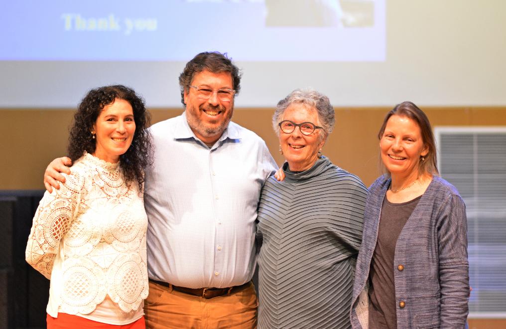 From left to right: Elizabeth Berman '81, Michael Berman '84, Lynne Berman, and Dr.Duhaime