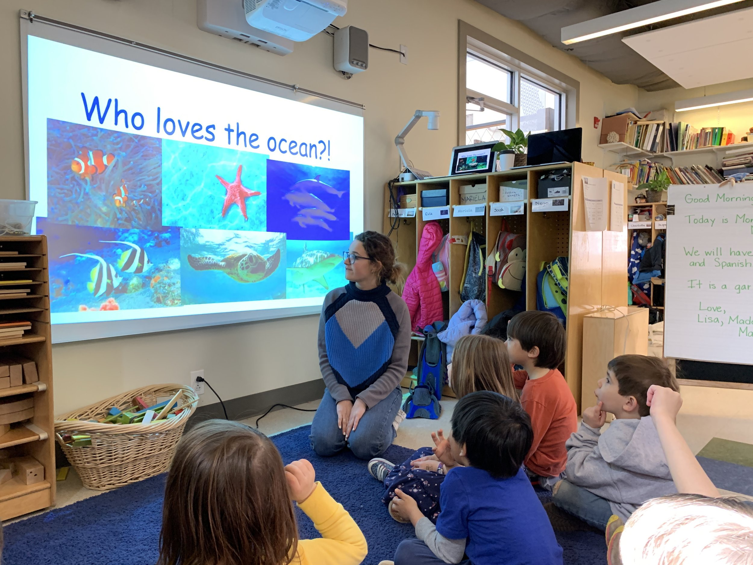 Alumna Lyla Forman inspired our preschoolers with her tales from the Island School.