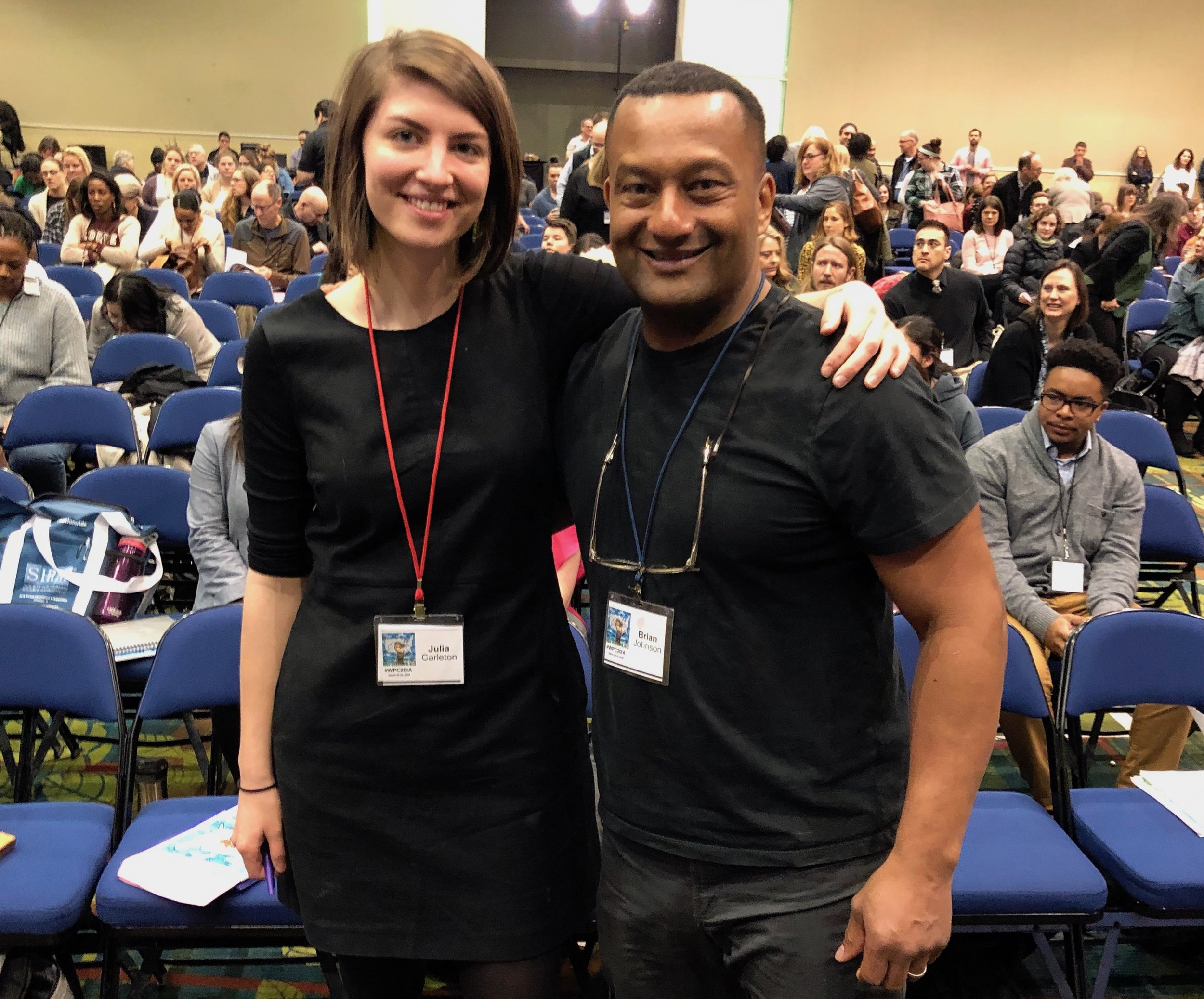 Julia Carleton and Brian Johnson at the White Privilege Conference in Iowa.
