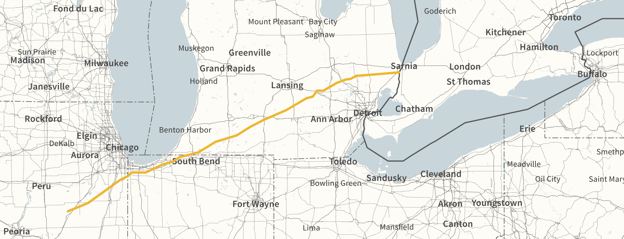LINE 6B ROUTING (MAP COURTESY ENBRIDGE)