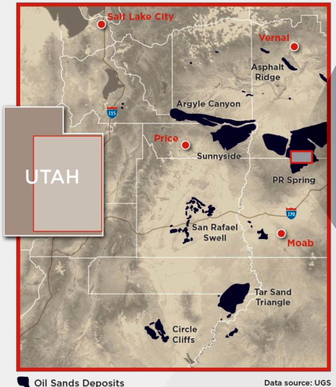 OIL SANDS DEPOSITS IN UTAH