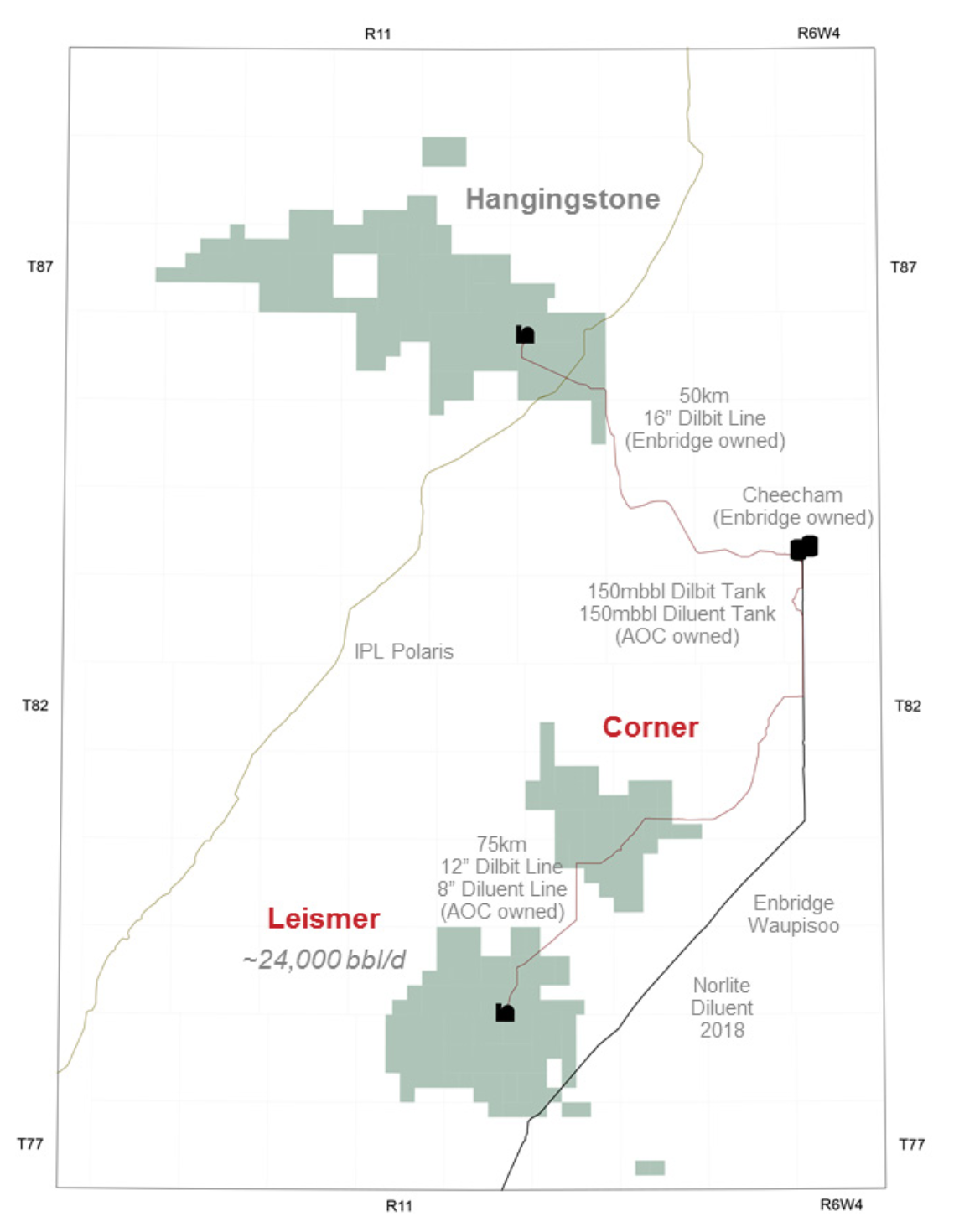 MAP COURTESY ATHABASCA OIL CORP