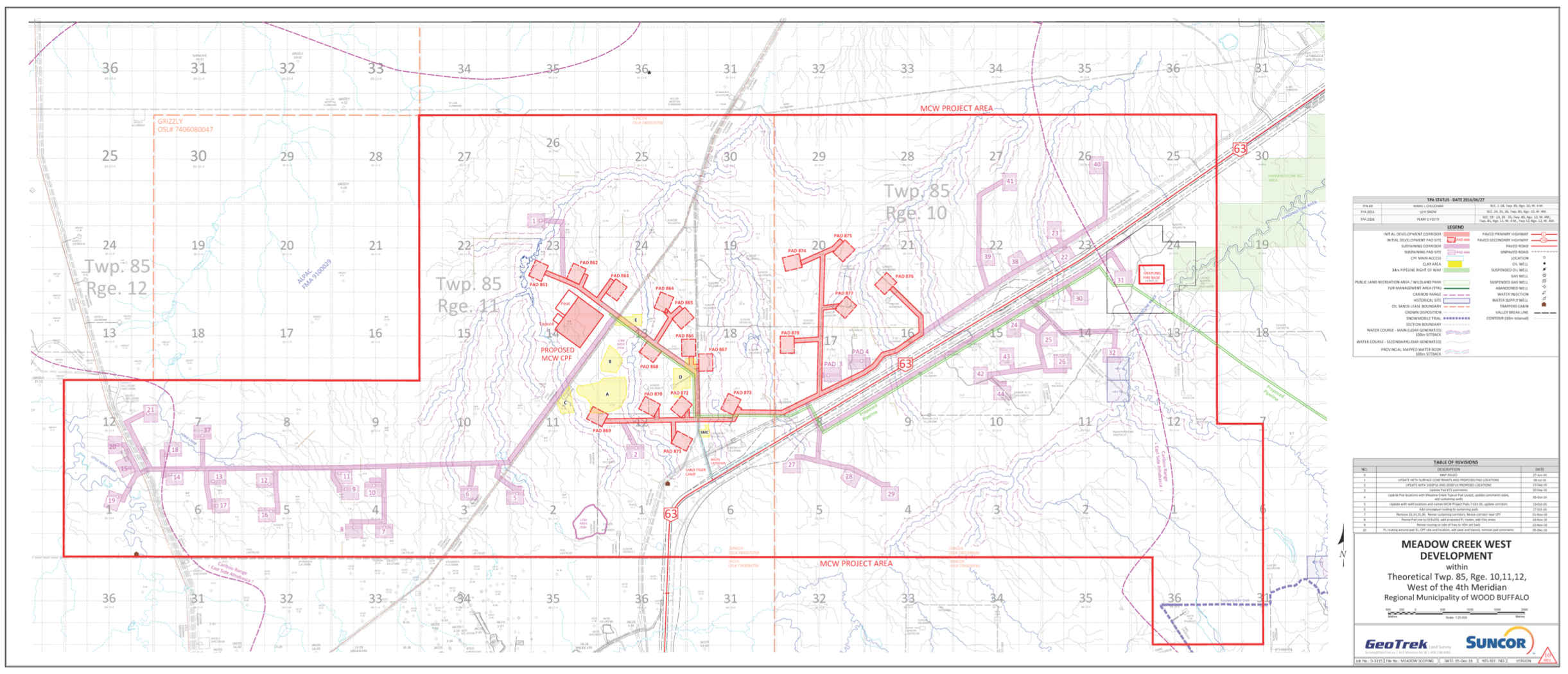 FACILITY SITE MAP COURTESY SUNCOR ENERGY