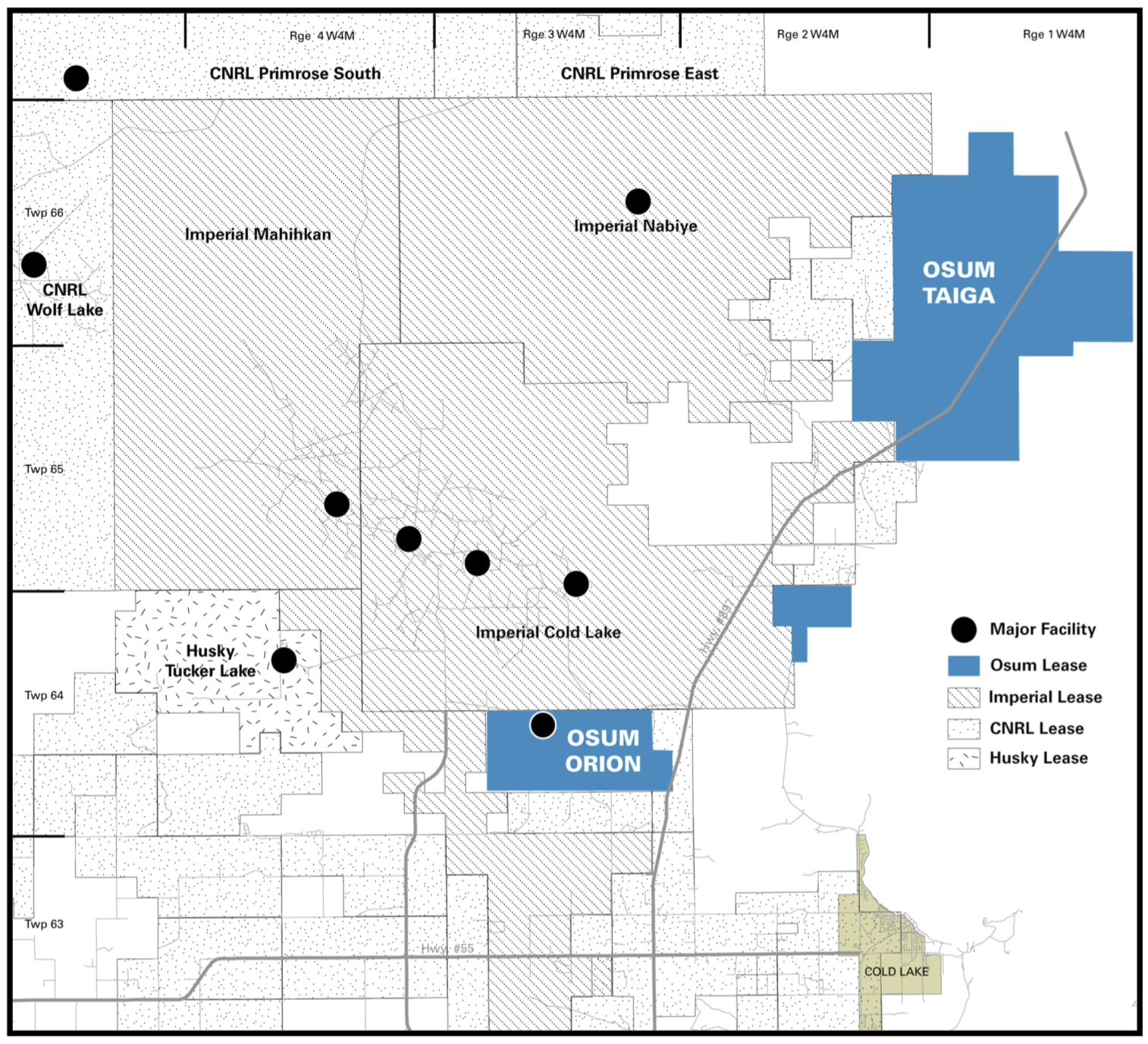 MAP COURTESY OSUM OIL SANDS CORP