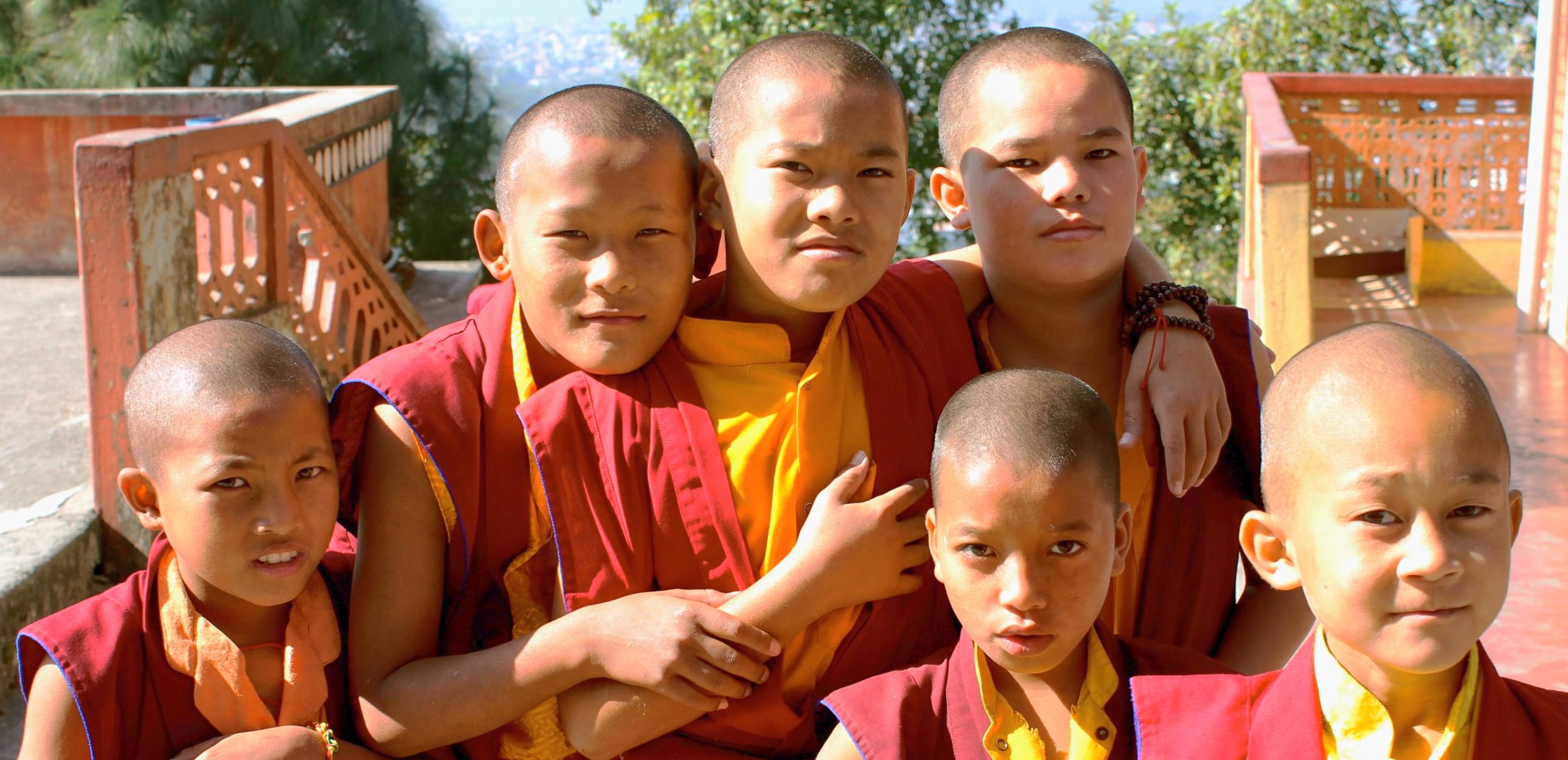 Young monks at  Matepani Gumba