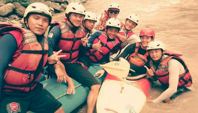 GRG Adventures  took great care of our group, guiding them safely along the Trisuli River.