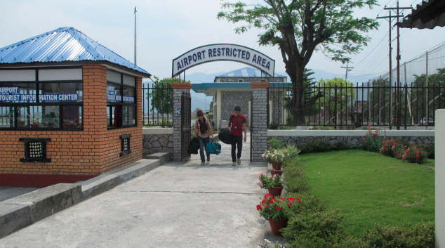Pokhara's airport makes it easy for travelers to skip long bus rides and arrive from Kathmandu in less than thirty minutes.