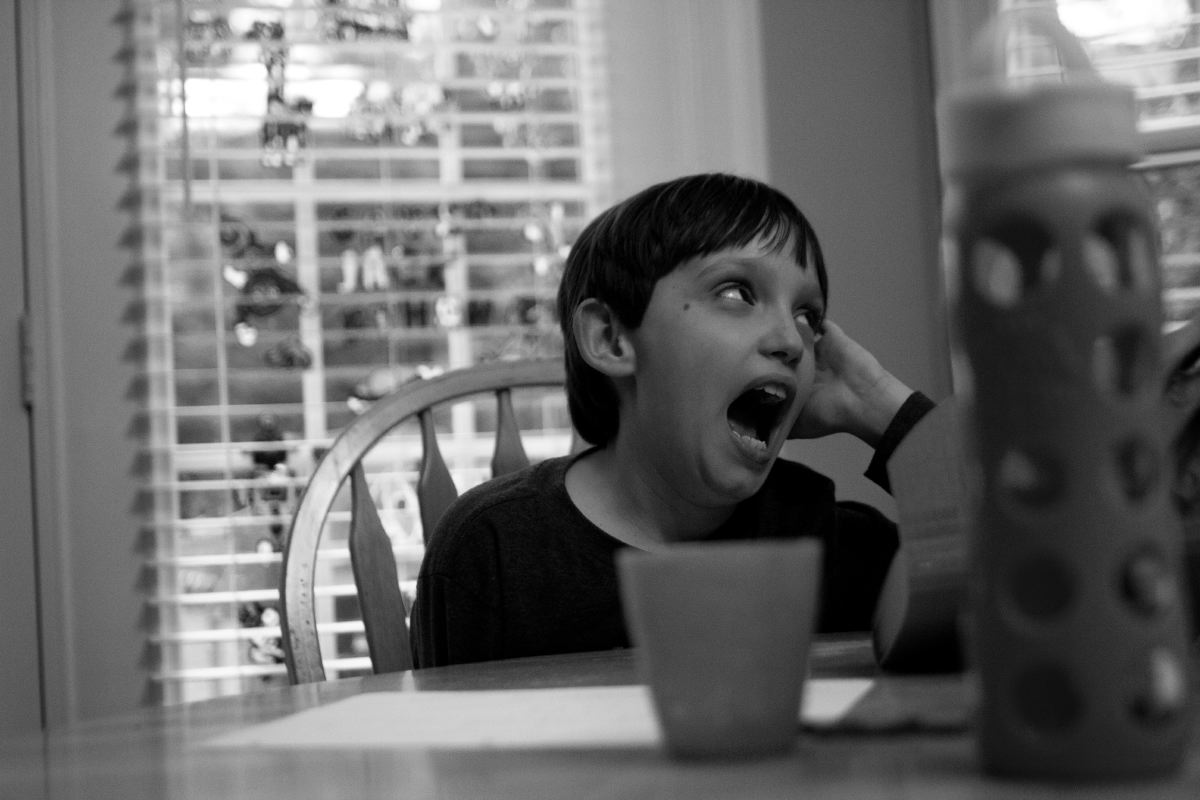 When Gavin gets frustrated, he often communicates through screaming. His teachers and therapists are trying to teach him to use words instead of screams when he needs something.