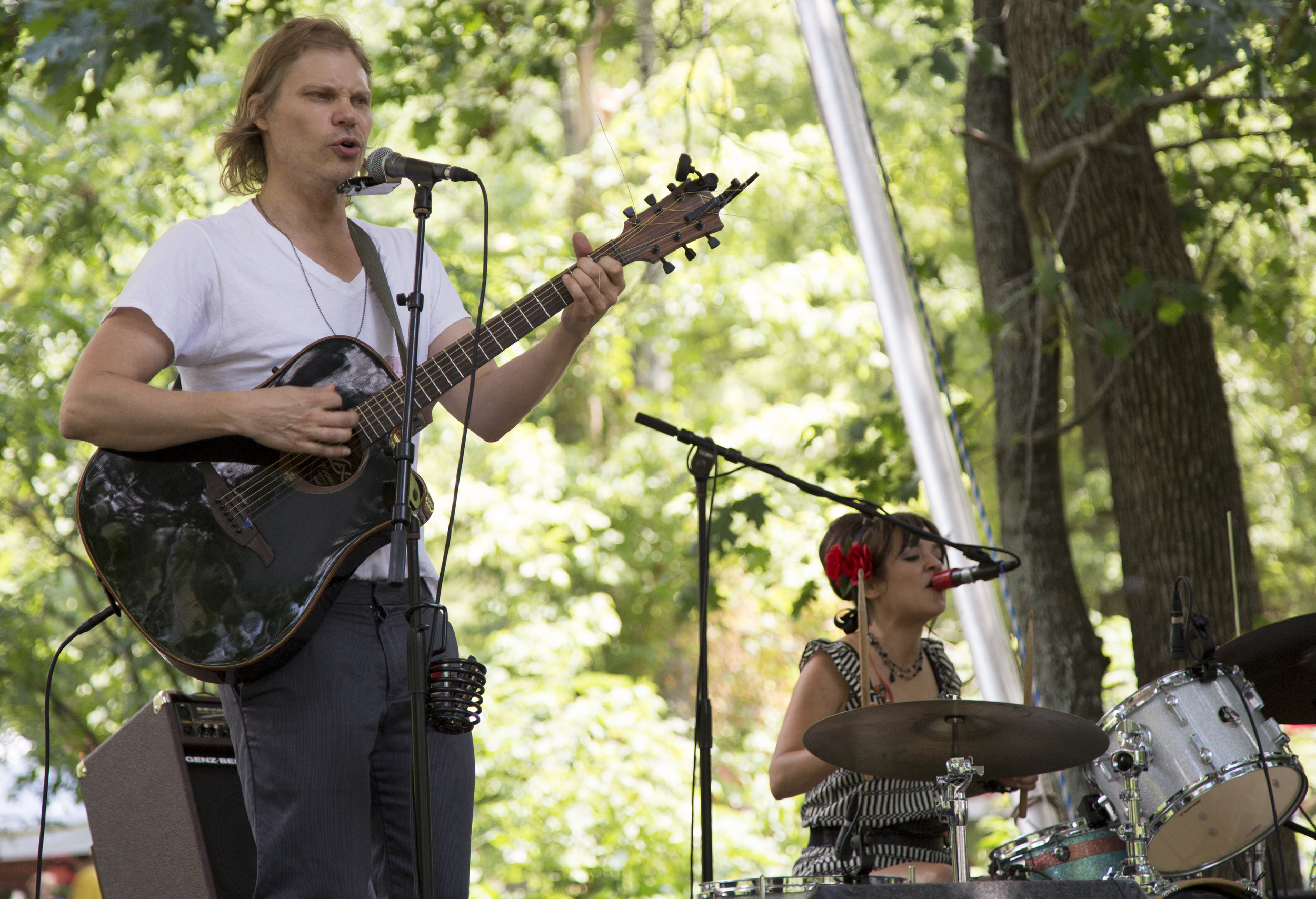 Paleface and Mo Samalot perform on the River Stage at the Festival for the Eno in Durham, N.C., on Friday, July 4, 2014.