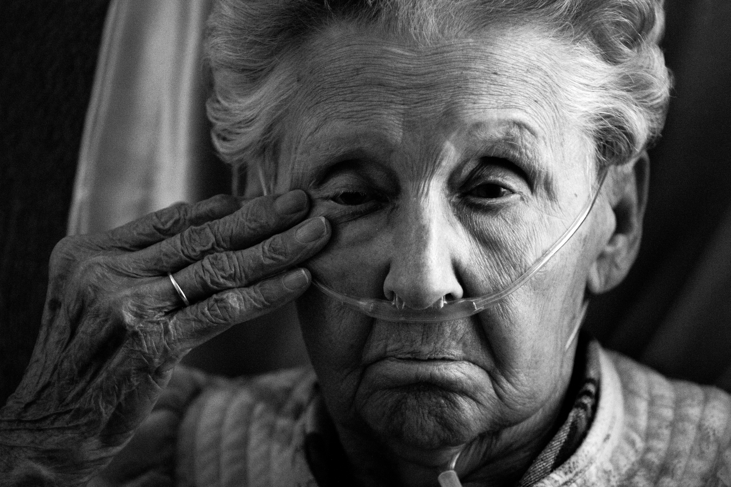 """Frances """"Mimi"""" Pickett rests at her home in Durham on January 17, 2014. Mimi, 89, has aplastic anemia, a blood disorder in which the body's bone marrow doesn't make enough new blood cells."""