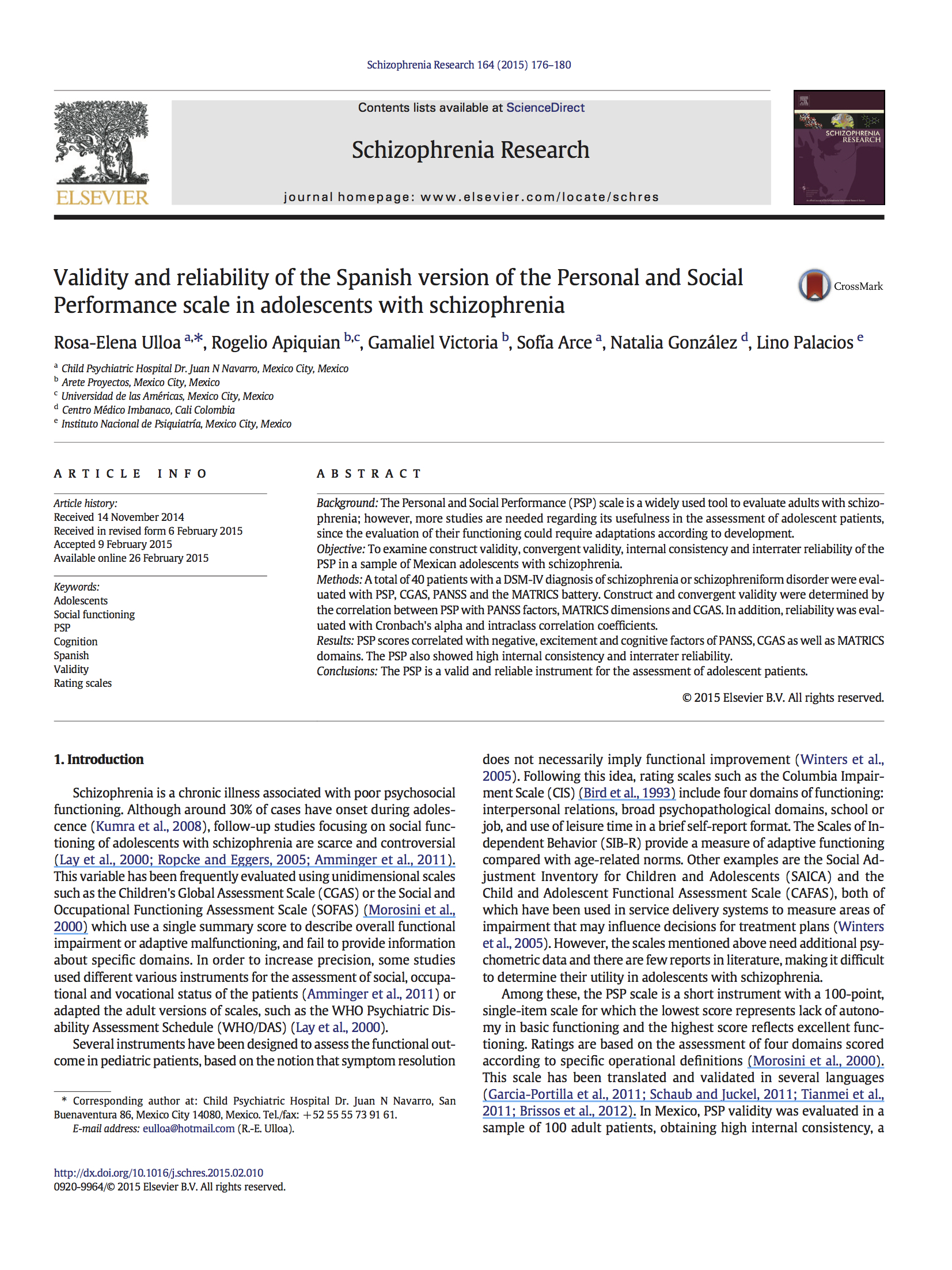 Validity and reliability of the Spanish version of the Personal and SocialPerformance scale in adolescents with schizophrenia.jpg
