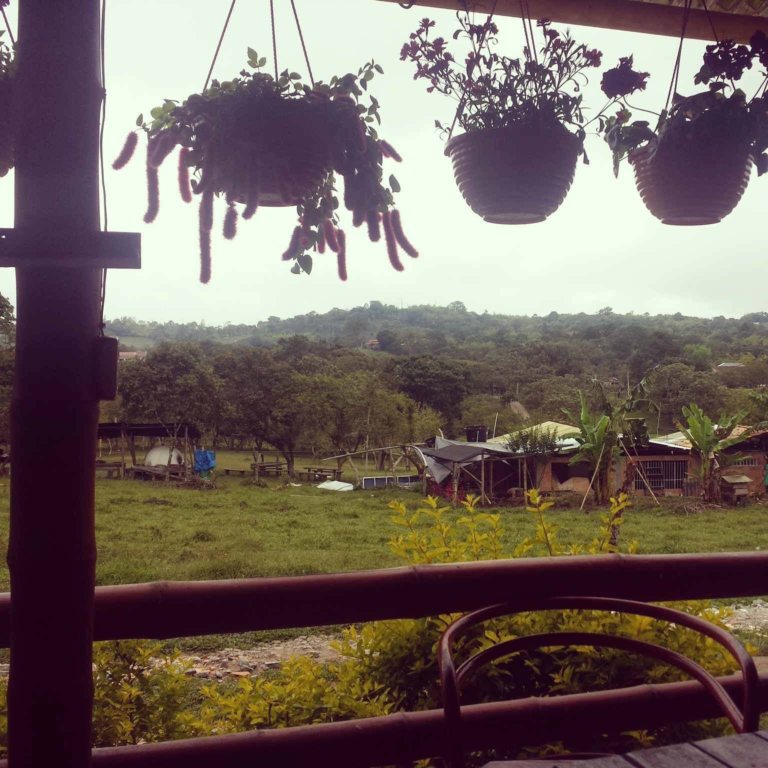 The view from breakfast at the hostel. San Augustin, Colombia