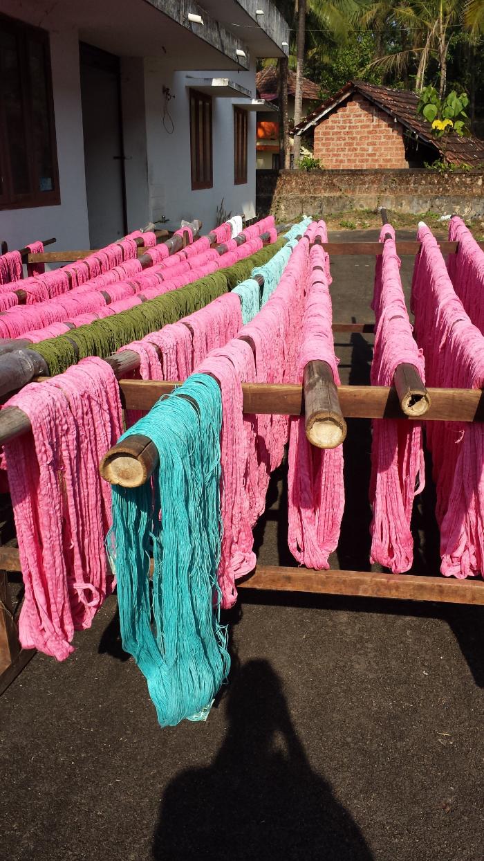 Drying the yarn