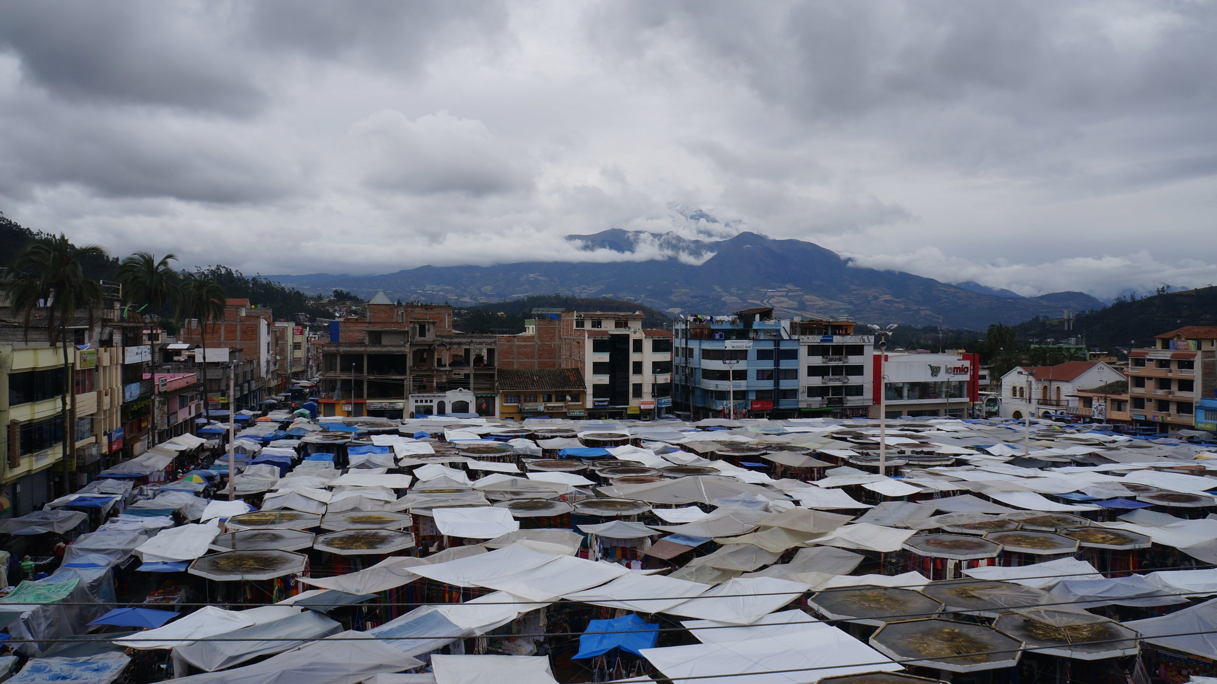 Otavalo market on a Saturday
