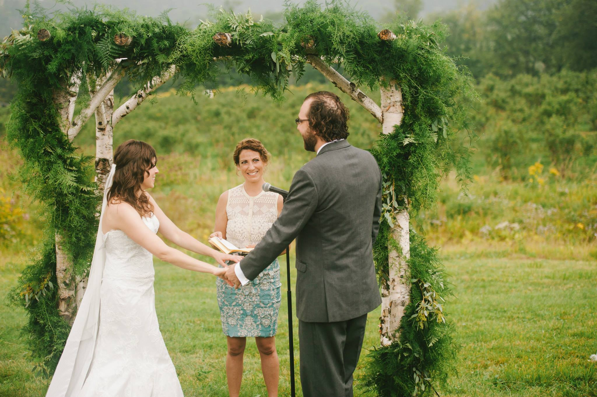 A stunning wedding in Vermont I was lucky enough to officiate