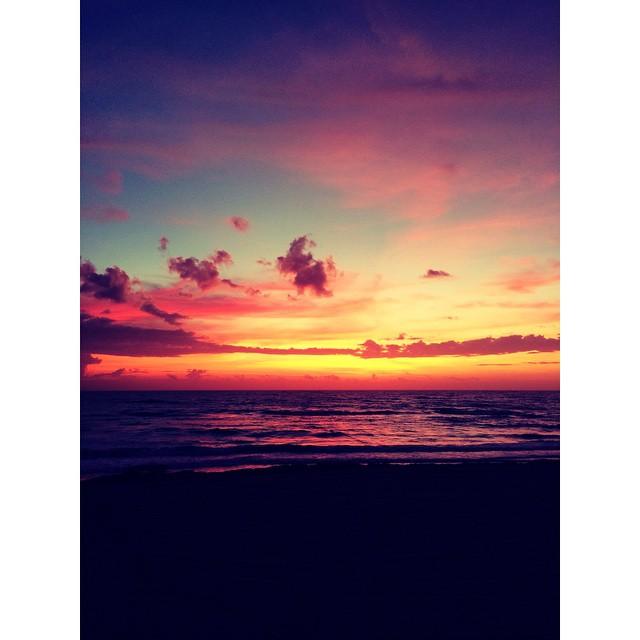 An autumn sunrise in South Florida.