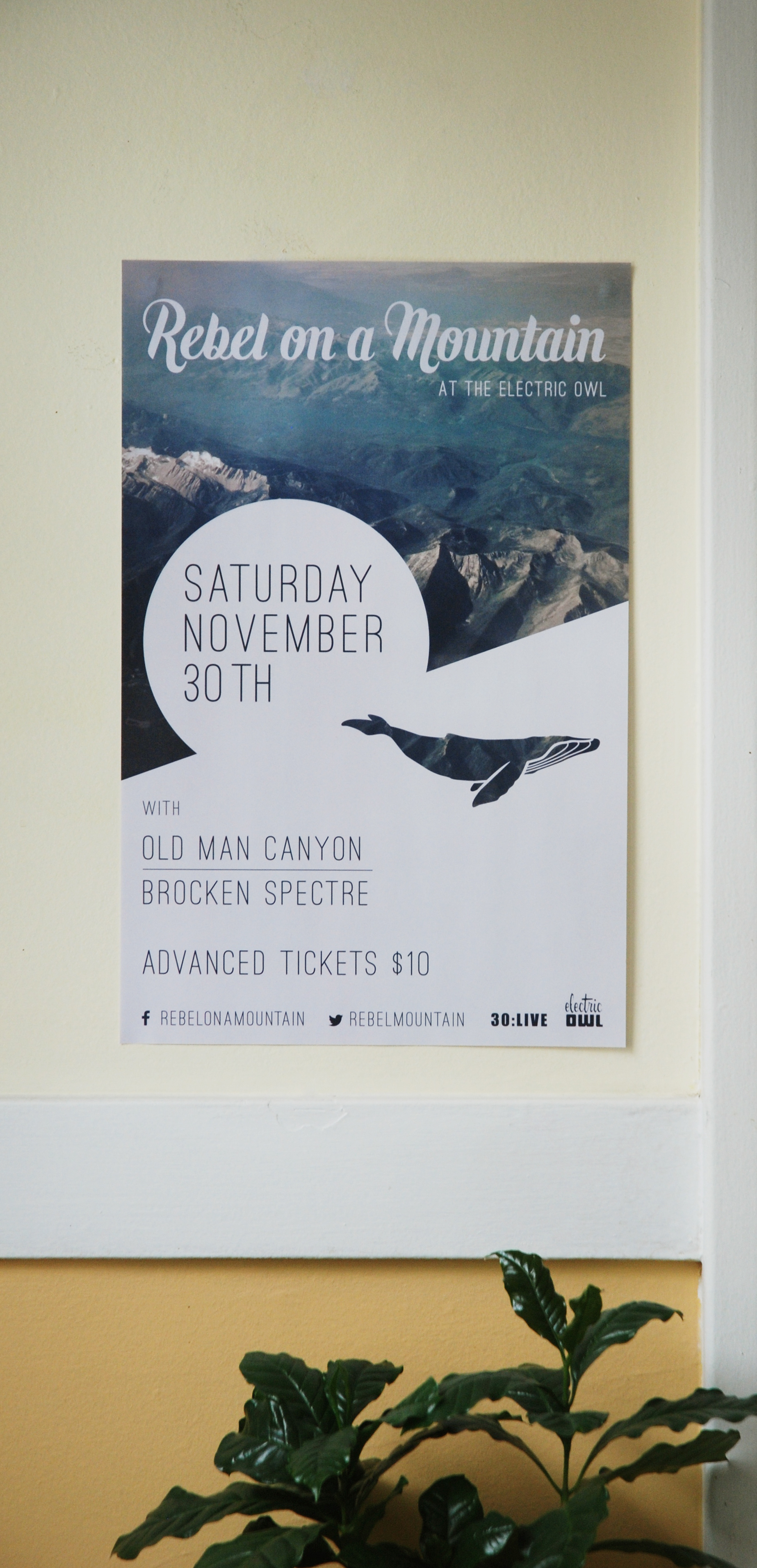 One of our gigs required us to provide the poster