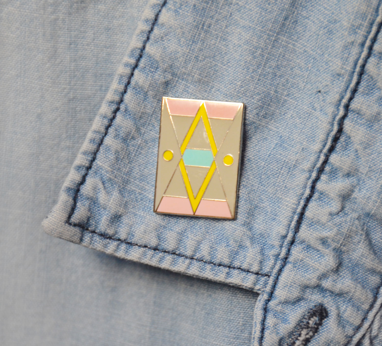 Enamel pin design
