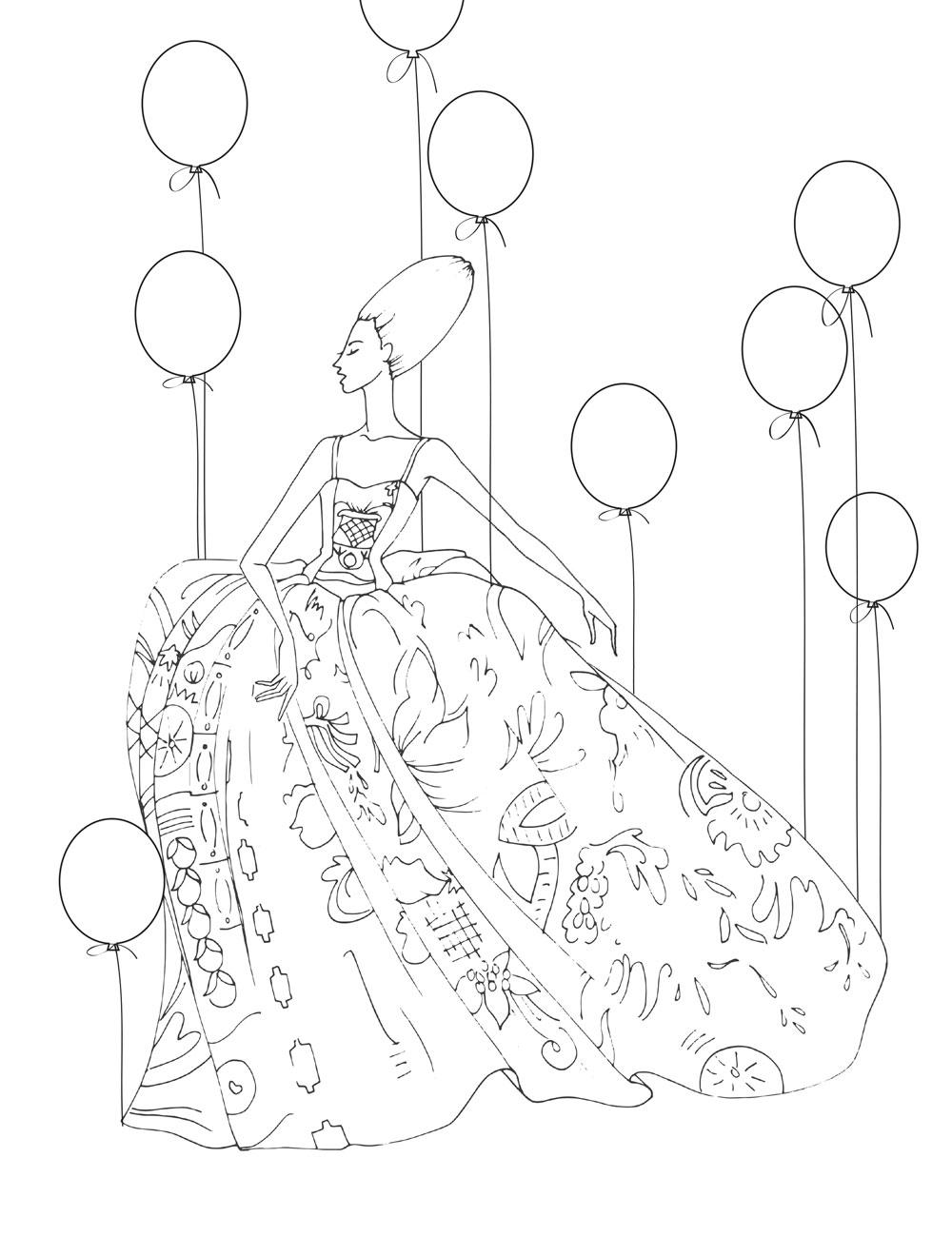 Coloring Book Design by Stefani Greenwood