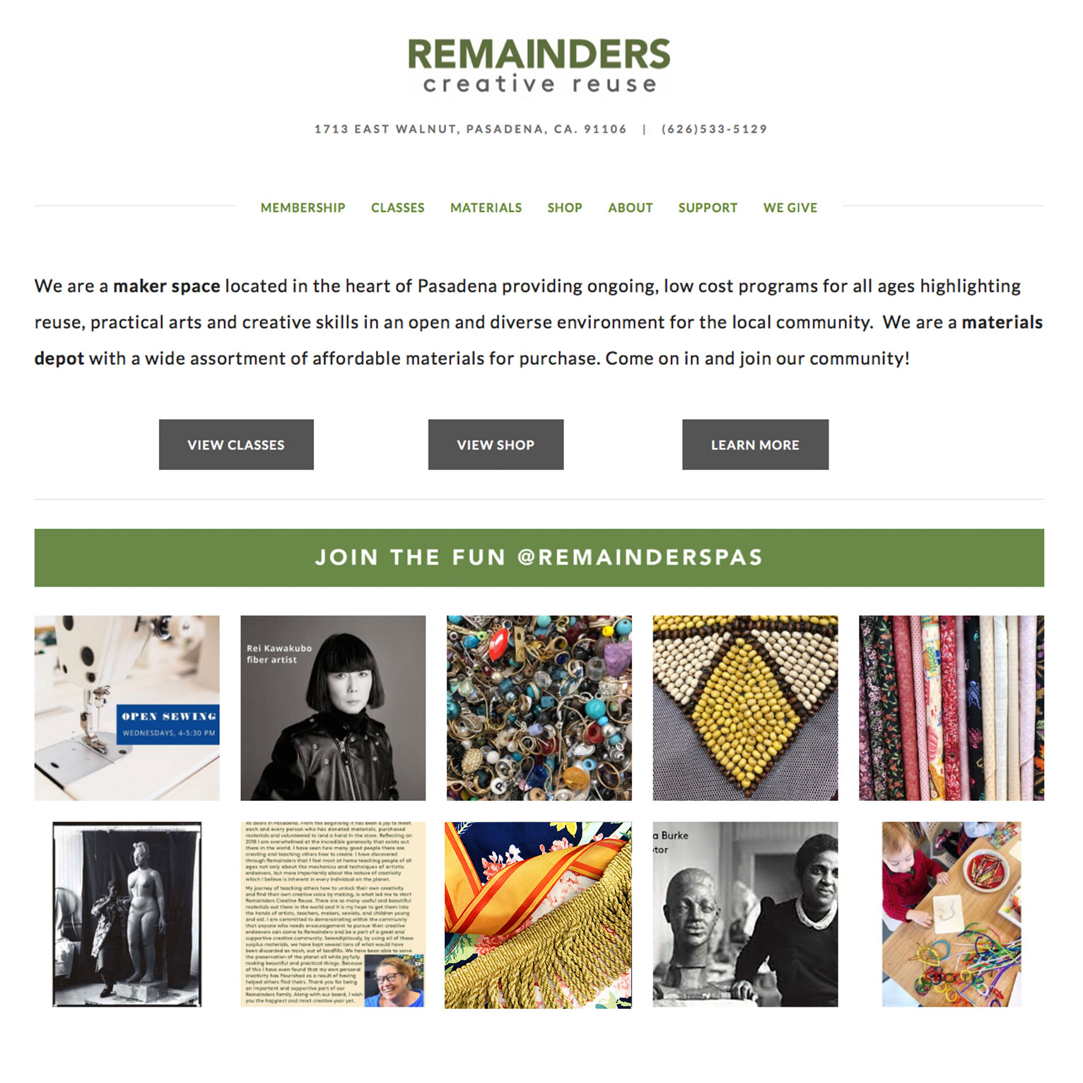 Remainders Web Design