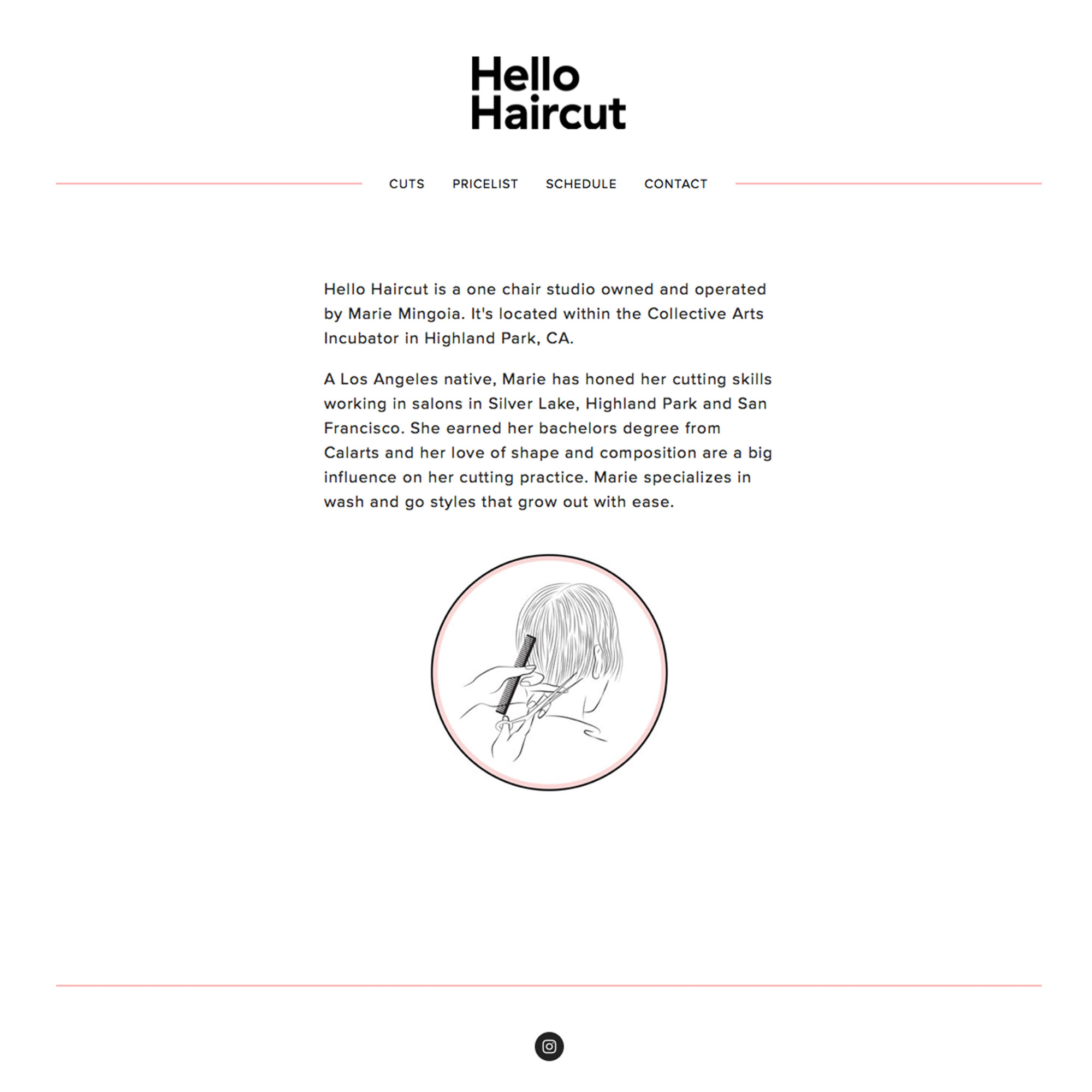 Hello Haircut Web Design