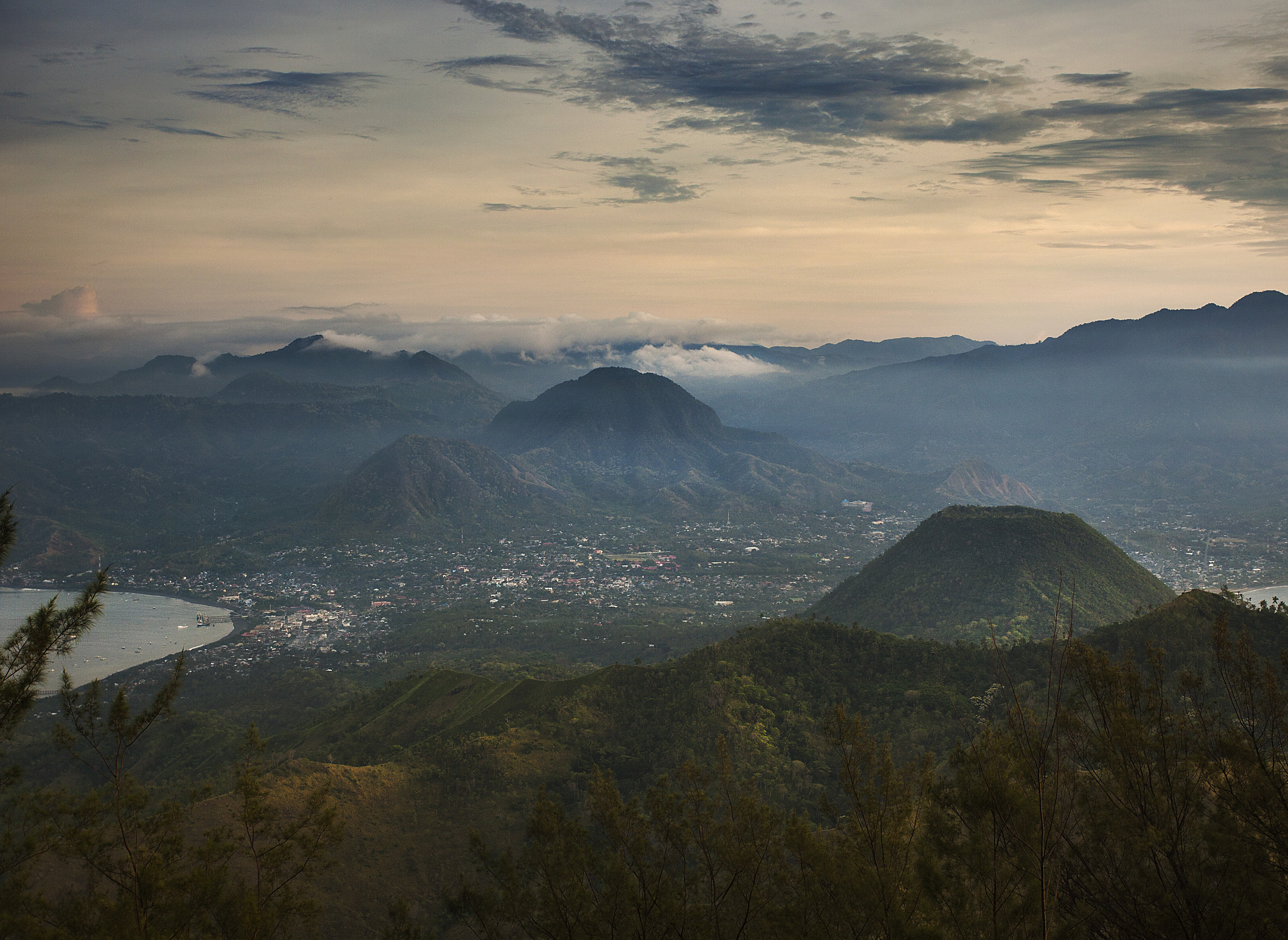 The view of Ende from the summit of Gunung Iya