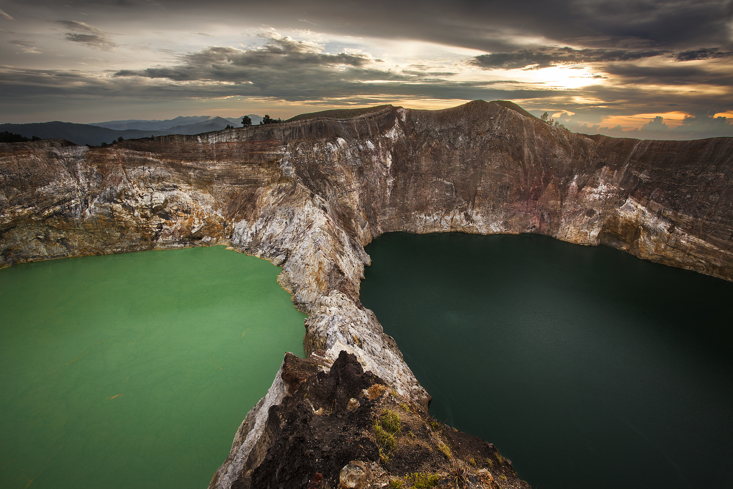 The multicolored lakes of Kelimutu