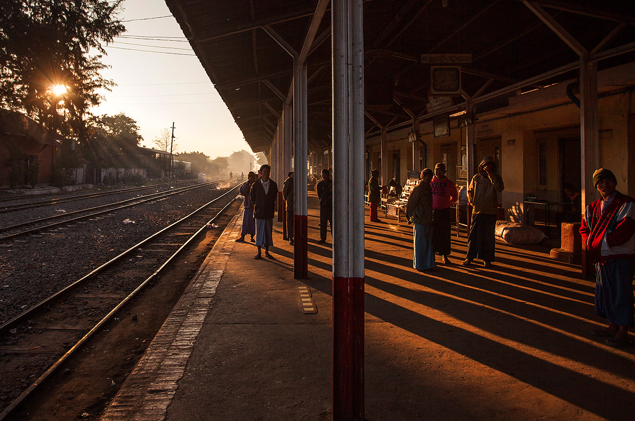 sun coming at the station
