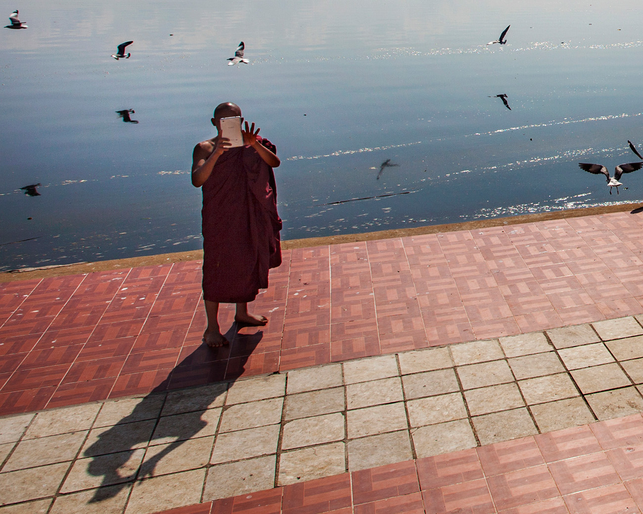 A monk turns the tables and takes a photo of me