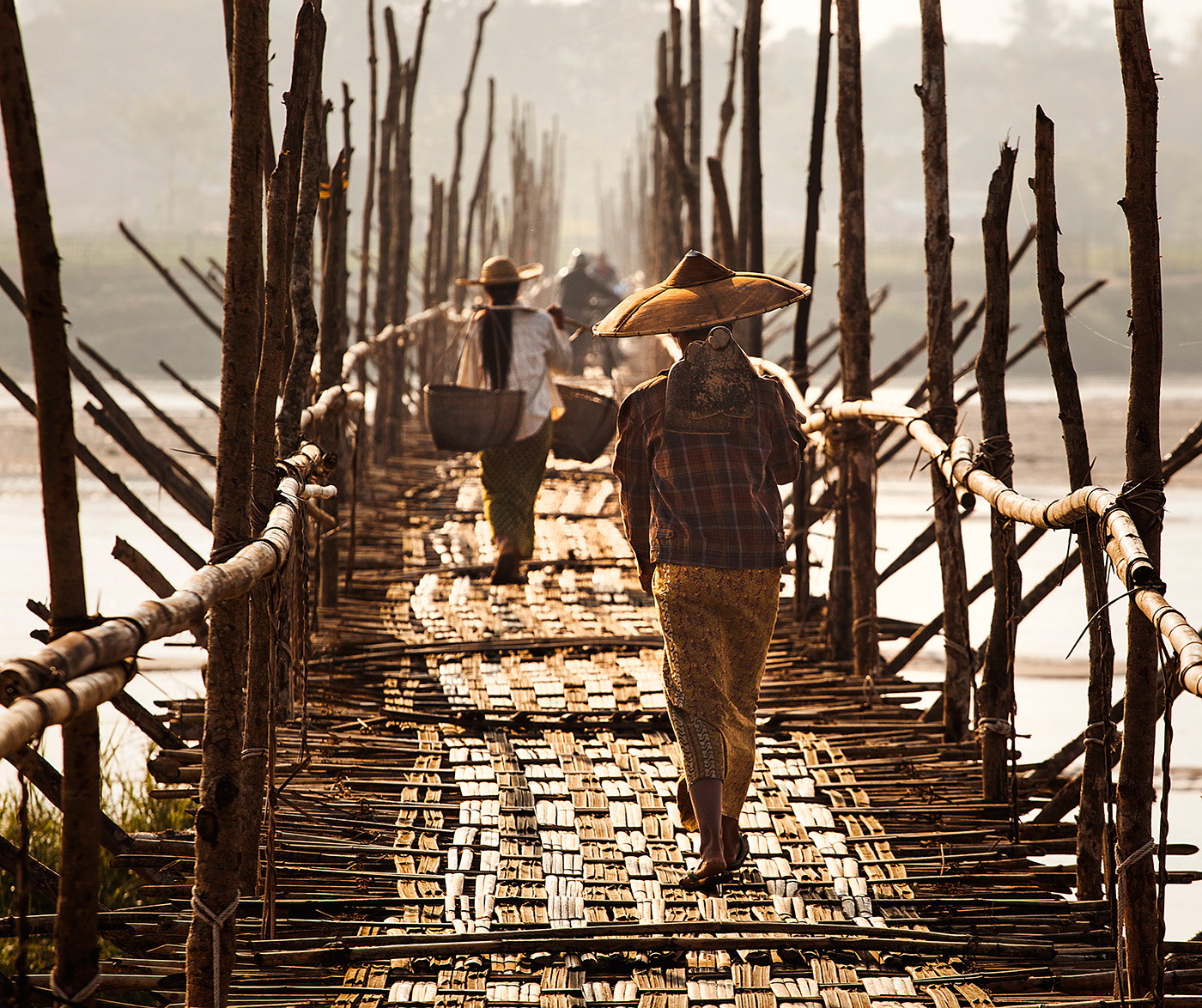 the bamboo bridge, my favorite place in Bhamo