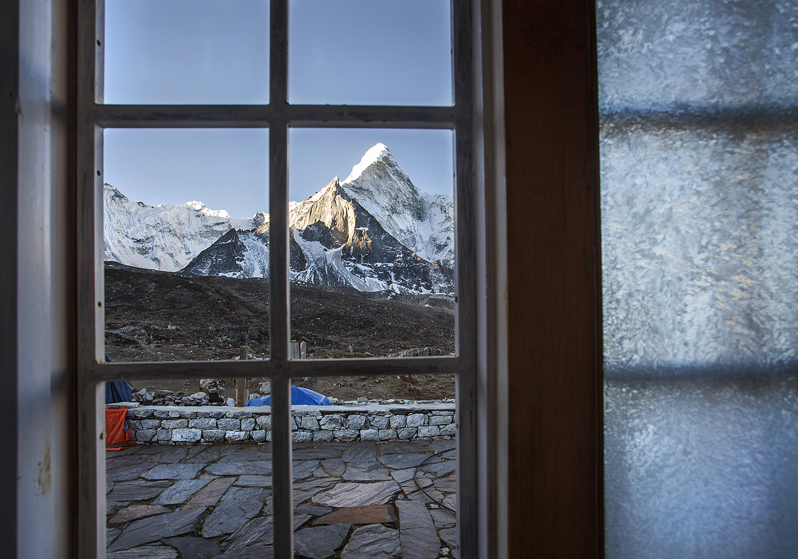 View of Ama Dablam from our lodge in Chukhung