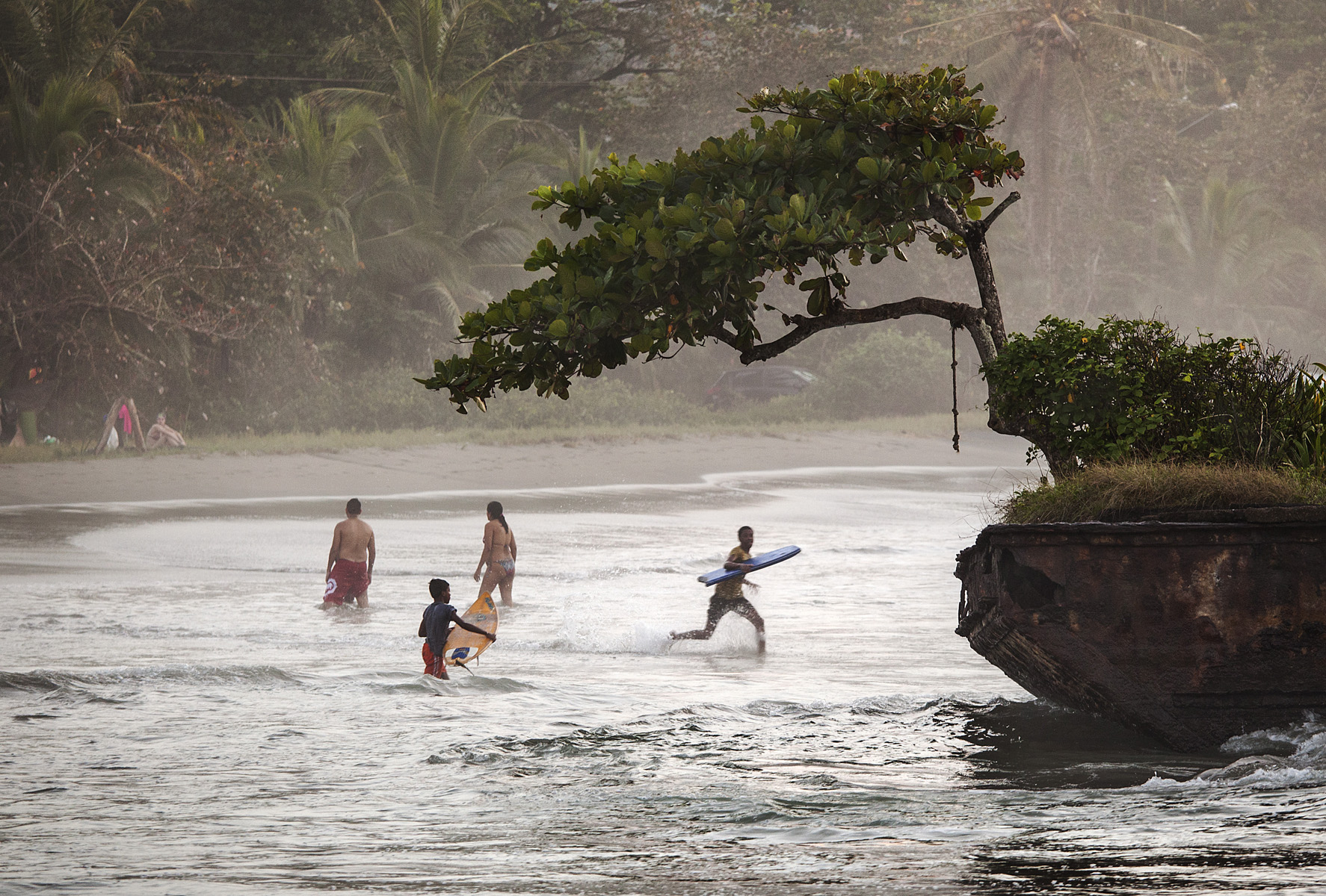 Some guys getting their surf on