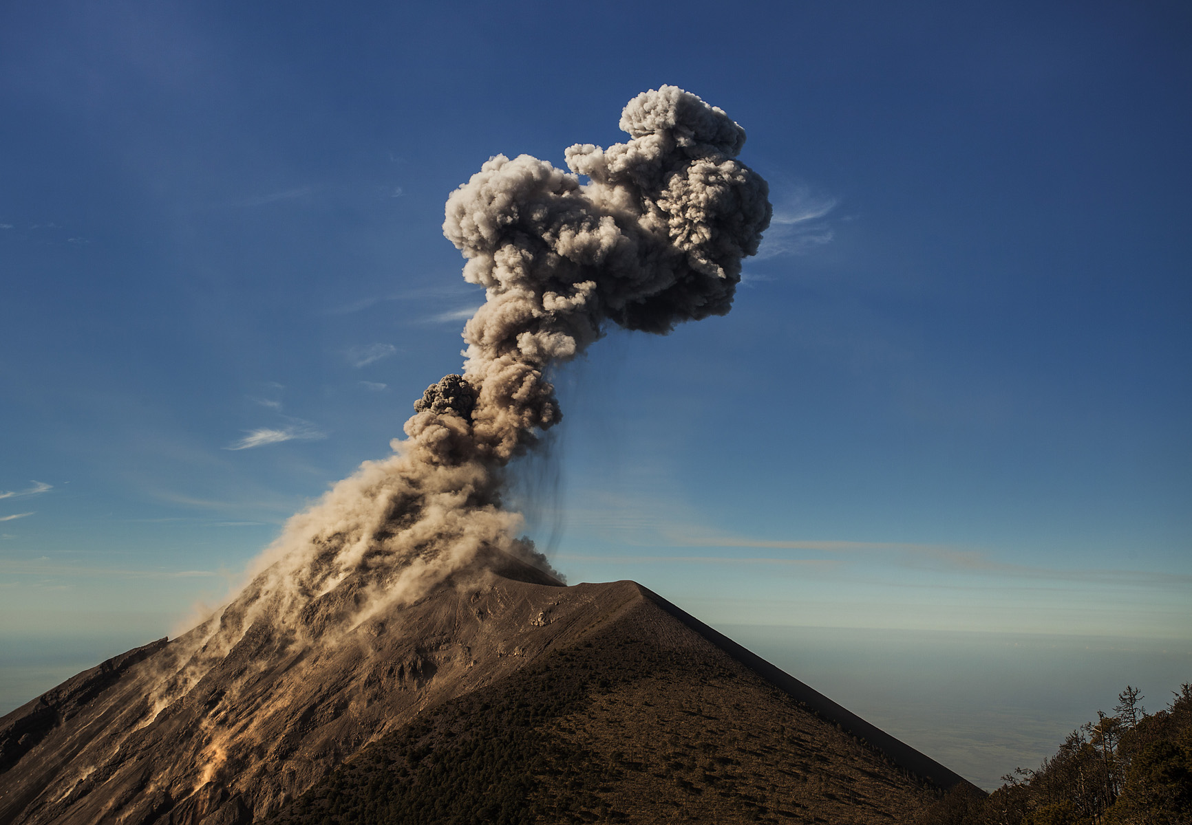 the last (and largest) eruption we saw before heading back down