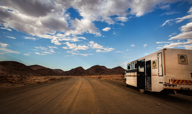 Our truck near the Namibia border