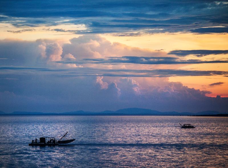 fishing boats on out Lake Kariba