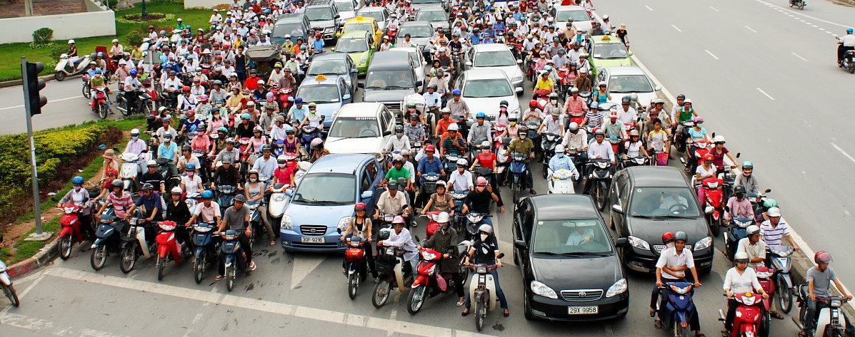 Photo I found online with some Hanoi traffic. Pretty wild!