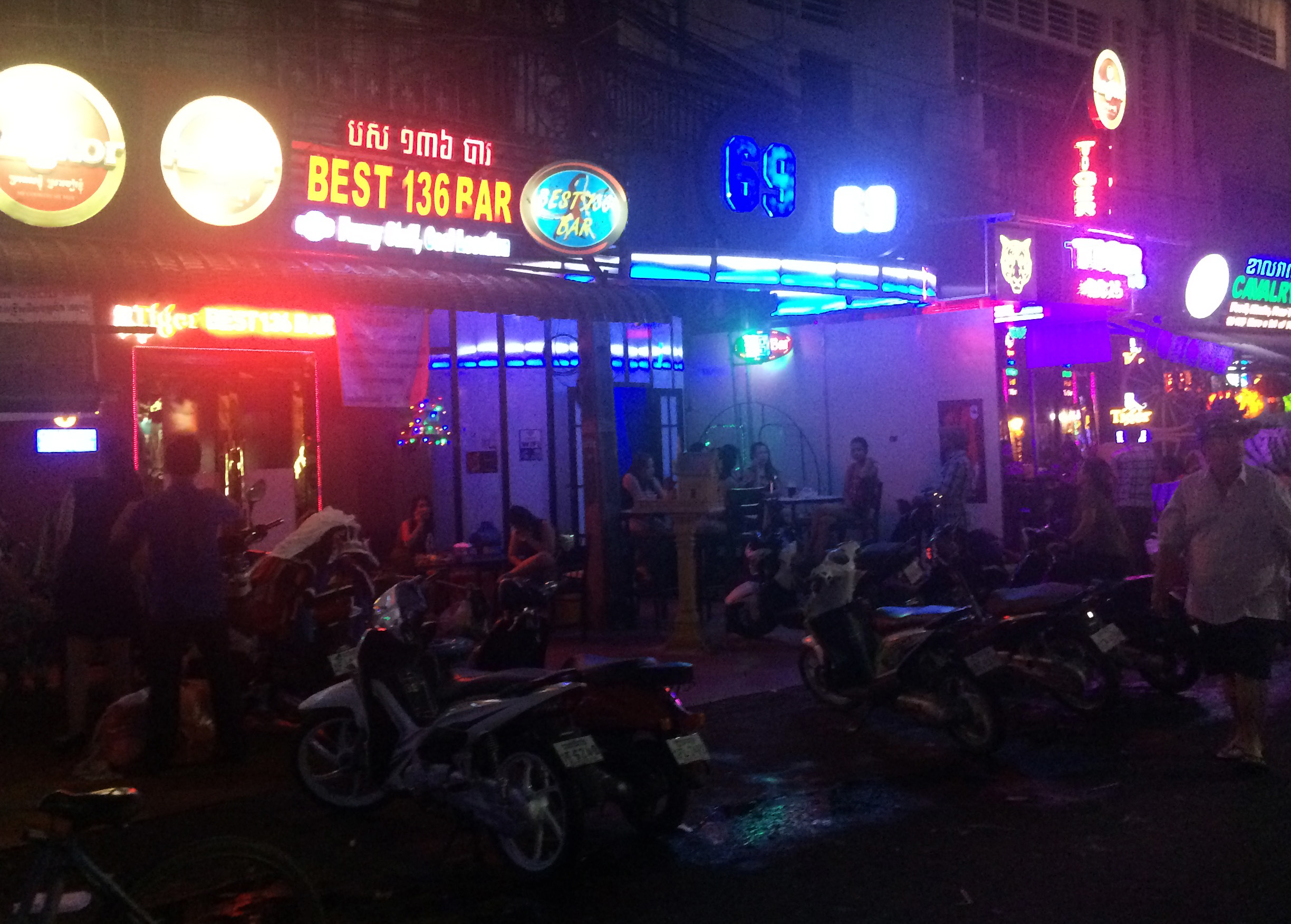 quick iphone shot of a few bars on 136 st. They don't like you taking photos!