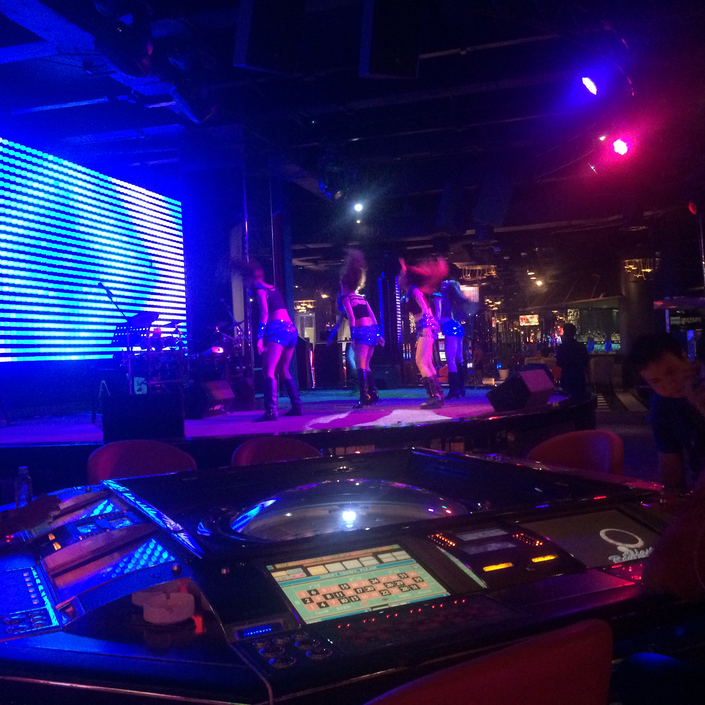 what kind of casino wouldn't have female dance troupes out on stage every night playing obnoxiously loud music?!