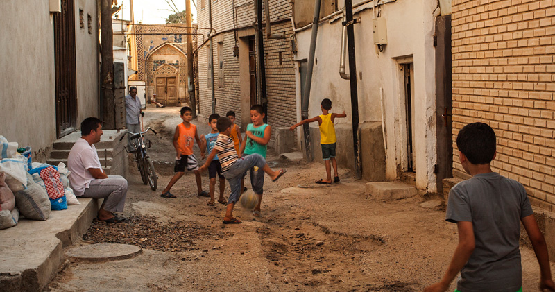 back alleyway soccer