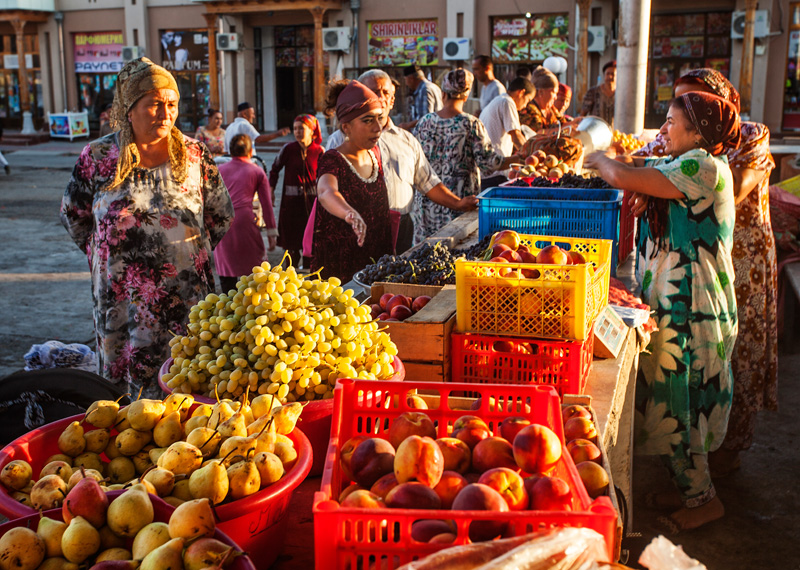 Passing by a fruit market