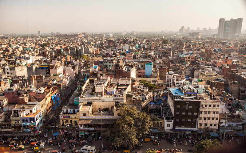 Delhi, as seen from the top of the minaret